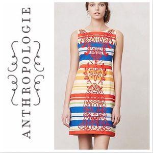 Anthropologie Tabitha Banded Totem Dress